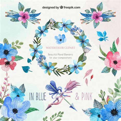 free watercolor clipart watercolor floral clipart vector premium