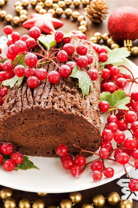 chocolate yule log cake best cheap healthy christmas party food recipe idea easy idea