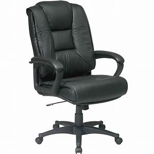 Office, Star, Ex5162, Deluxe, High, Back, Executive, Leather, Chair, -, Leather, Black, Seat