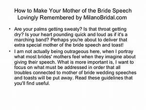 how to make your mother of the bride speech lovingly With wedding shower speech
