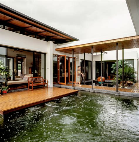 home architecture design feng shui house feels like it s floating on a lake