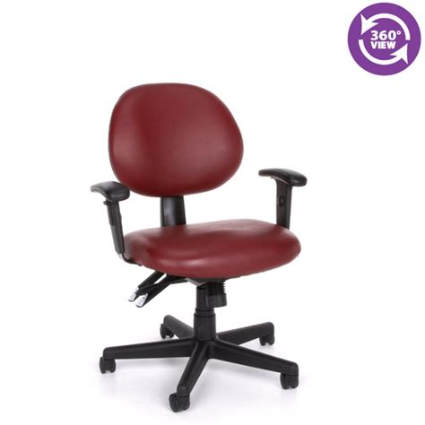 Office Chairs Vinyl Covering by Multi Shift Task Office Chair Adjustable Arms Ofm 241va