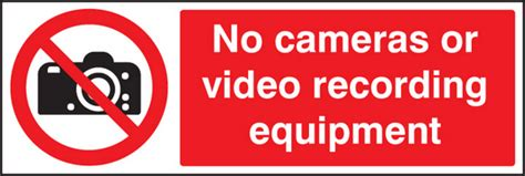 No Cameras Or Video Recording Equipmentment Sign