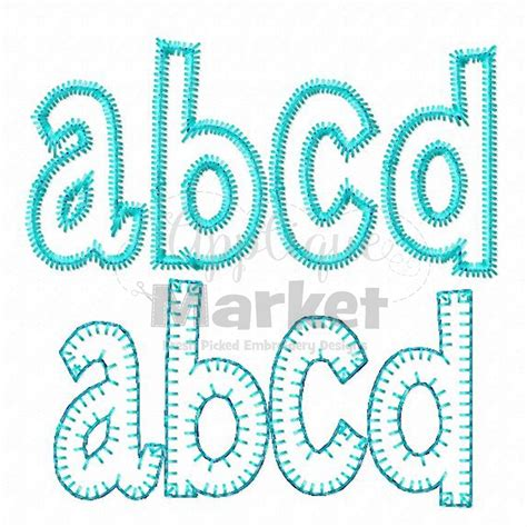 Embroidery And Applique Designs by Henry Applique Alphabet Applique Alphas Applique