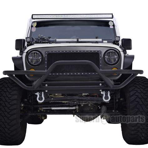 jeep bumper grill 2007 2017 jeep wrangler jk black rock crawler tubular