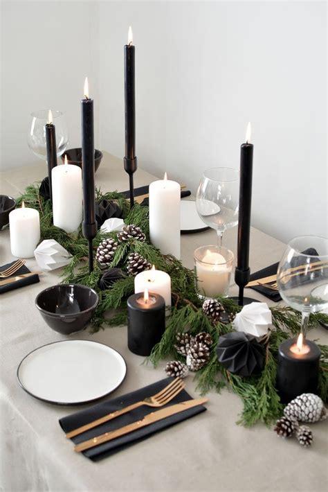 scandinavian inspired christmas table setting  year