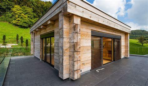 Moderne Häuser Aus Lehm by Flachdach Mit Attika Schweiz Duffner Blockbau Holzhaus