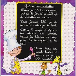 Recette De Gateau Pour Enfant : carte postale recette de g teau aux noisettes recette pour enfants ~ Melissatoandfro.com Idées de Décoration