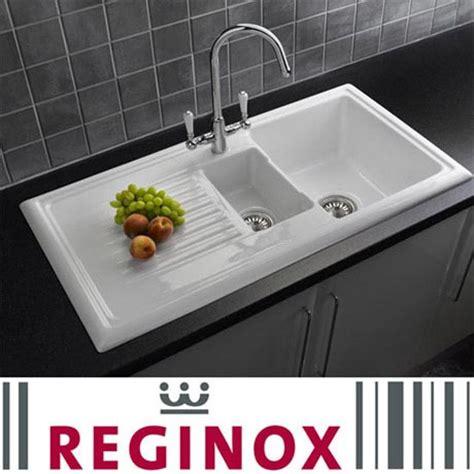 Reginox  Traditional White Ceramic 15 Kitchen Sink And