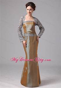 mermaid lace flowers mother in law dress with long sleeves With mother in law wedding dresses