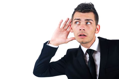 man listening  hand  ear conselium executive search