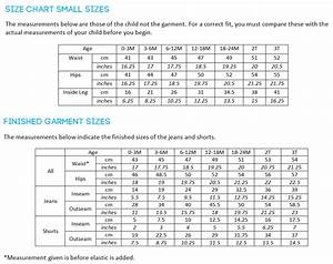 Size Chart Calvin Klein Titchy Threads Small Fry Skinny Jeans Pdf Pattern