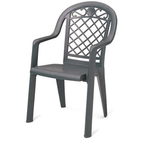 grosfillex us103102 outdoor armchair metal look