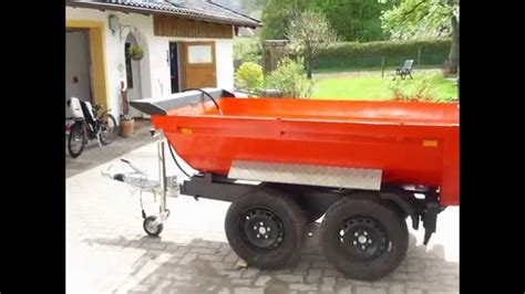 Maier Mulde Halfpipe Kipper Pkw Muldenkipper Anh 228 Nger Kleintraktor