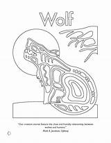 Native American Coloring Pages Symbols Wolf Animal Animals Nations Nation Canadian Colouring Printable Ojibway Spirit Haida Wordpress United Money Getcolorings sketch template