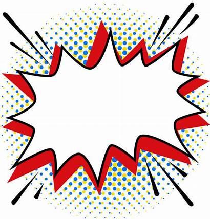Pop Bubble Template Bang Speech Vector Comics