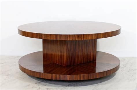 Vintage walnut enamel inlaid round coffee table rare mid century danish modern. Mid-Century Modern Memphis Round Zebra Wood Lazy Susan ...