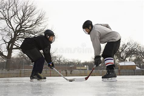 Hockey player face off. stock photo. Image of competition ...