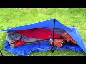 Ultra Light Backpacking Tent Ultralight Tarp Tent Youtube
