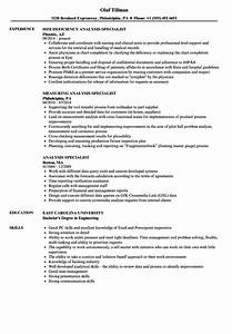 Analysis Specialist Resume Samples