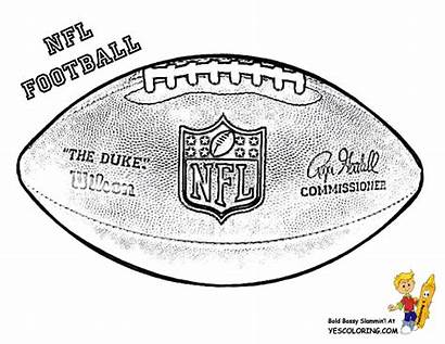 Coloring Football Pages Ball Printable Nfl Jerseys