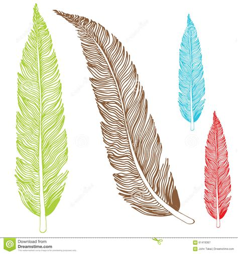feather drawing stock vector illustration  illustration