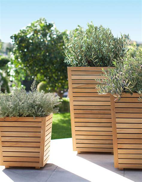 teak planters  plants   patio  target