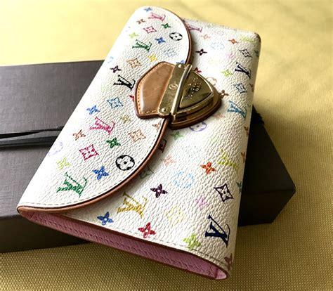 louis vuitton white multicolor eugenie wallet