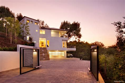 modern house design  hillside modern house