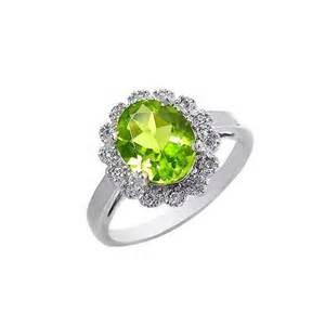 peridot wedding rings 2 carat peridot engagement ring on silver jewelocean