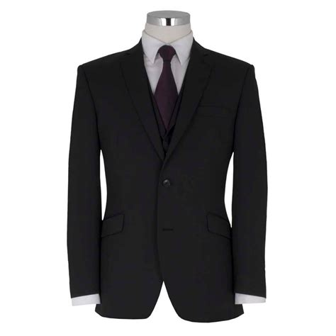 Black Suit Black Waistcoat  Go Suits