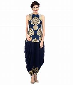 Kmozi Navy Jacquard Dhoti Suit Buy Online at Best Price in India Snapdeal
