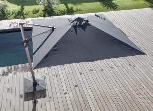 parasol deporte 3 x 3 m elios orientable mat coloris With tapis oriental avec canapé d angle relax électrique orlando