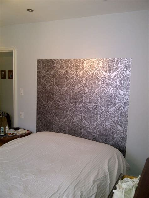 love laugh  renovate diy wallpaper headboard
