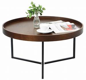 Barrie Walnut Round Tray Table Furniture & Home Décor