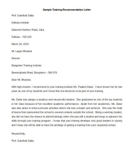 recommendation letter templates