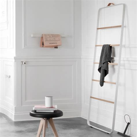 menu bath towel ladder white light oak leo bella