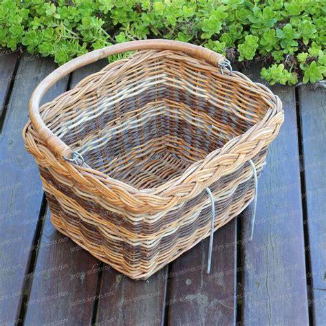 poubelle cuisine 50l panier osier pour vélo accessoire ustensile cuisine
