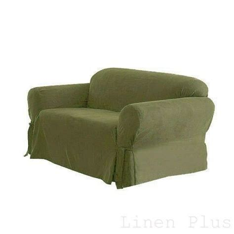 Green Slip Cover by 1 Pc Green Soft Micro Suede Sofa Slip Cover New
