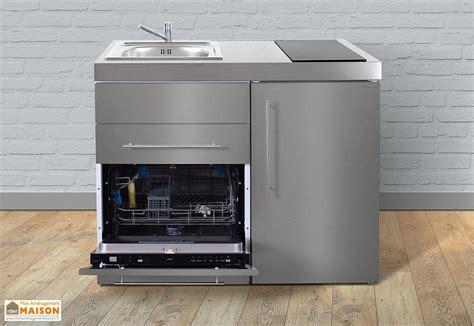 cuisine lave vaisselle mini cuisine inox avec lave vaisselle et vitrocéramiques