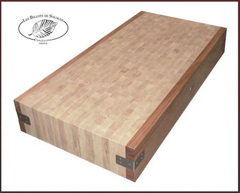 billots de cuisine planche de boucher table de cuisine