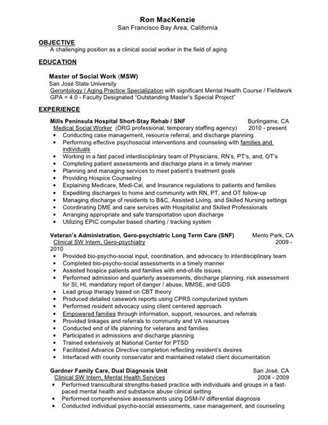 Social Worker Resume Objectives by Mac Kenzie Resume Gero Social Worker V2 7
