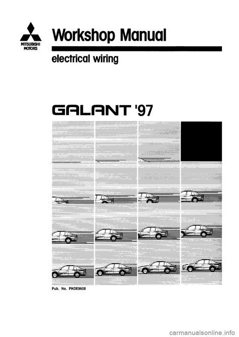 mitsubishi galant 1997 8 g electrical wiring diagram