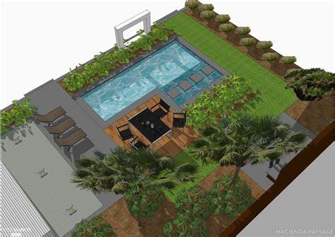 chambre style chalet projet de jardin contemporain avec piscine hacienda
