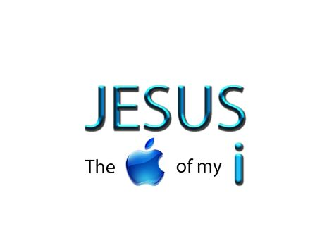 jesus the quot apple quot of my i by zephyrcat on deviantart