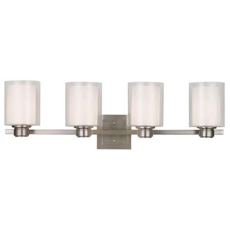 4 bulb vanity light design house oslo 4 light brushed nickel vanity light