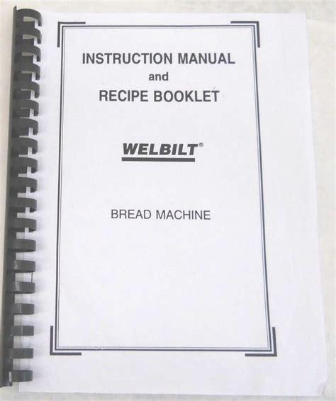 We did not find results for: Welbilt Bread Machine Maker Manual ABM350 ABM500 ABM550 ABM600 ABM2100 ABM2200T | eBay