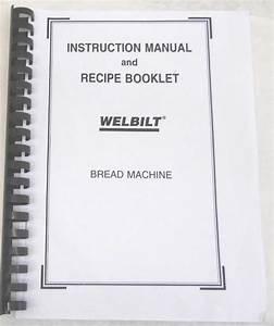Welbilt Bread Machine Maker Manual Abm3800 Abm3900 Abm4000
