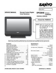 Sanyo Dp32648 Service Manual Download  Schematics  Eeprom