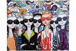Kare Design Bilder : tableau multicolore peinture l 39 huile lunettes tableau ~ Michelbontemps.com Haus und Dekorationen